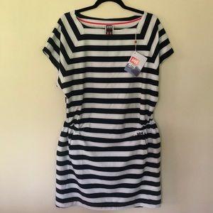 LG Helly Hanson Striped Cinch Waist Dress NWT